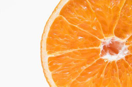 新鮮でジューシー オレンジの断面図。