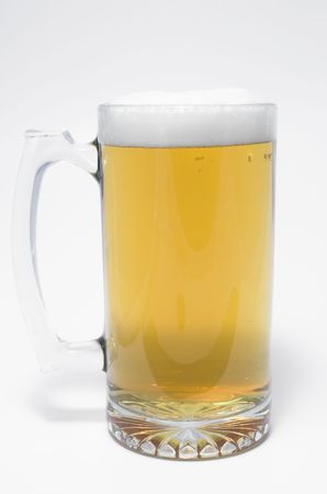 A glass mug of ice cold beer. Stock Photo - 945101