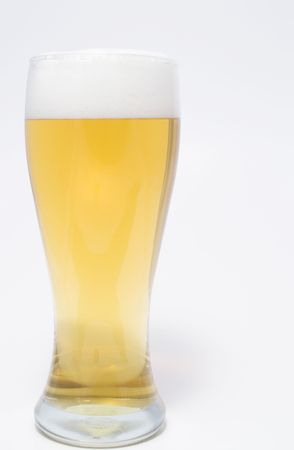 near beer: A pilsner glass of ice cold beer.