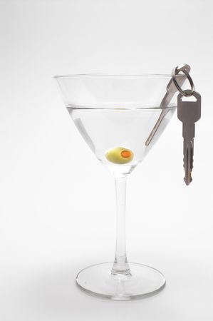 drink responsibly: Concept: Drinking and driving dont mix. Stock Photo