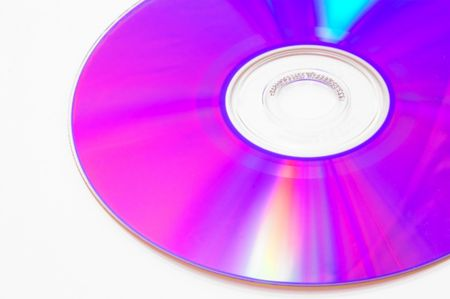 dvdr: A colorful close-up of a cd or dvd.