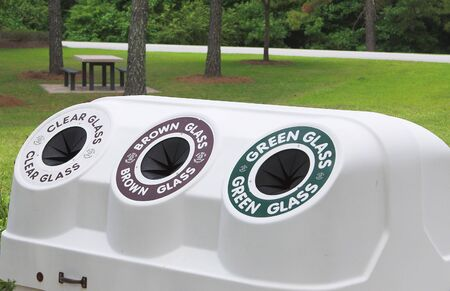 A public recycling center for the disposal of renewable resources.