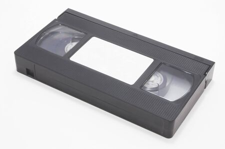 the outdated: A VHS video cassette tape - Outdated technology concept.