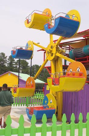 A kiddie ferris wheel at an amusement park. Stock Photo - 1216001