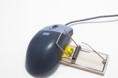 mousetrap: Un mouse catturato in una trappola per topi. Archivio Fotografico