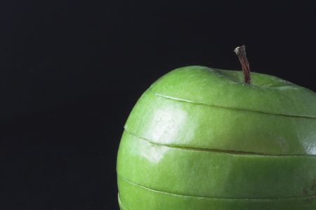 A sliced green apple in a stack. Stock Photo - 1335336