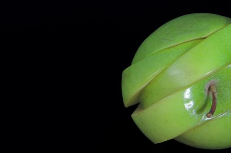 A sliced green apple in a stack. Stock Photo - 1343151