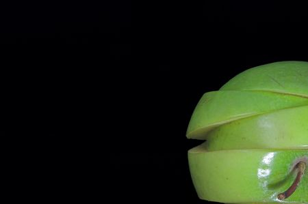 A sliced green apple in a stack. Stock Photo - 1343152