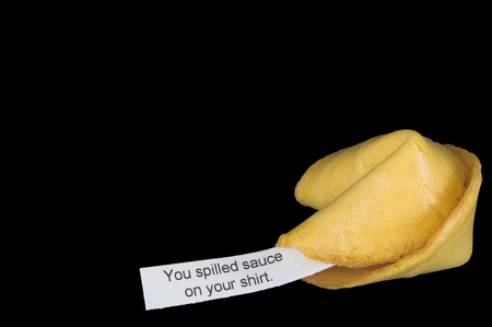 A very interesting chinese fortune cookie message.  photo