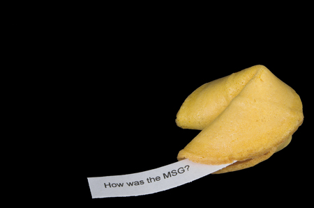 glutamate: A very interesting chinese fortune cookie message.