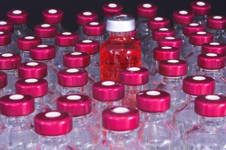 placebo: A collection of prescription medicine vials.