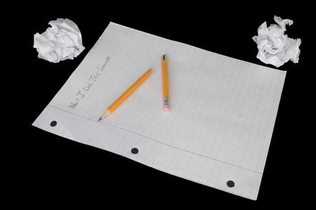 assignment: A students summer homework assignment.