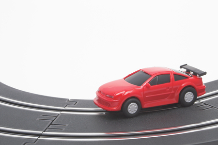 A slot car racing on a track. Stock Photo - 1543402