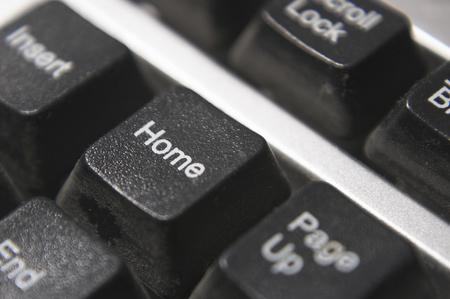 home key: El hogar clave en un teclado de computadora.