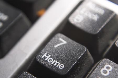 home key: La casa clave en un teclado de computadora.