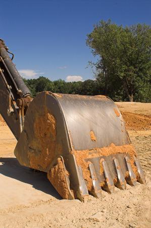 Een industriële graafmachine op een bouwplaats. Stockfoto - 1631557