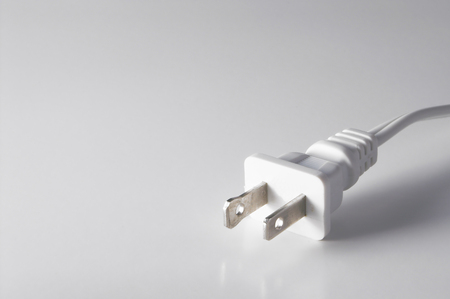 The plug on a cord of an electrical device. Stok Fotoğraf