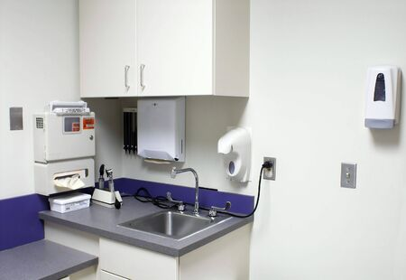 anti bacterial: The inside of a doctors examination room.