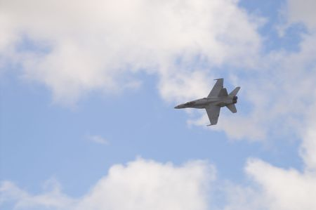 F 18 Hornet military attack fighter aircraft. photo