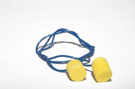 personal protective equipment: Safety ear plugs for personal protective equipment. Stock Photo