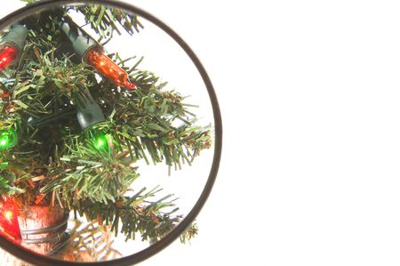 Bright, colorful and festive Christmas tree lights. Stock Photo - 2094986