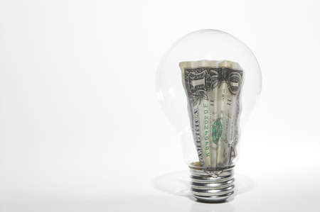 The concept of saving money through energy conservation. Stock Photo - 2094983