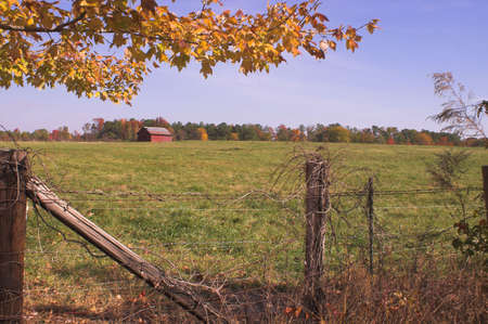 An old farm in the autumn part of the year. Stock Photo - 2105871