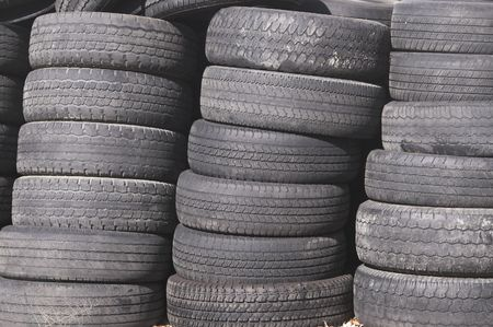 A pile of old rubber automobile tires. Stock Photo - 2138032