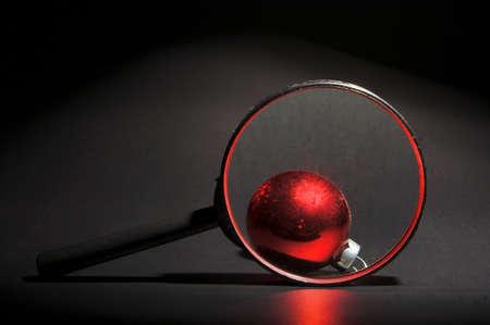 december 25th: A very colorful Christmas ornamental glass ball.