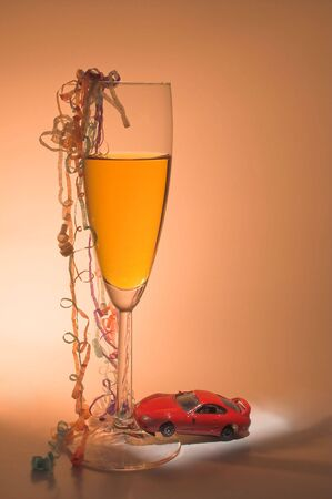 sobriety: The concept if driving under the influence of alcohol. Stock Photo