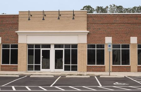 commercial real estate: An empty commercial building ready for occupancy.