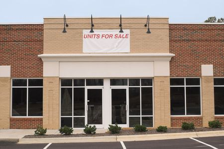 commercial architecture: An empty commercial building ready for occupancy.