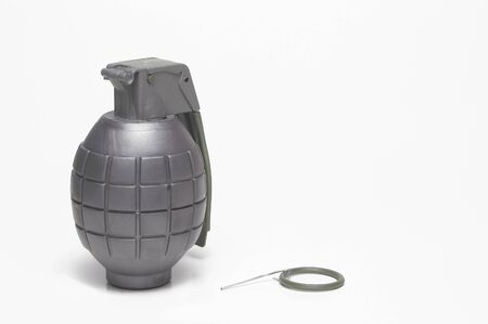 wmd: A hand grenade with the pin missing. Stock Photo