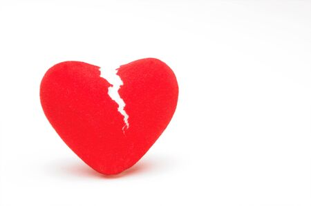 adore: A closeup image of a broken heart.