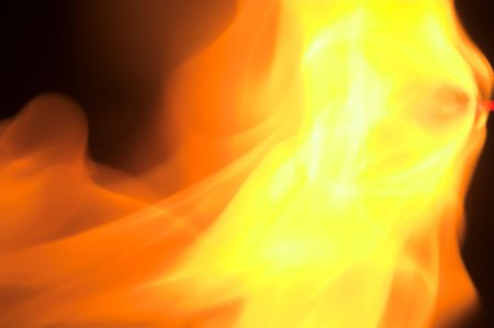A close up image of a roaring fire.