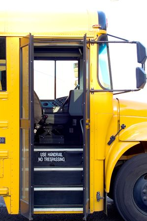 An open door on a public school bus. Stock Photo - 2527100