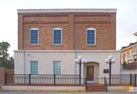 Een oude 1940's style historische politiebureau.