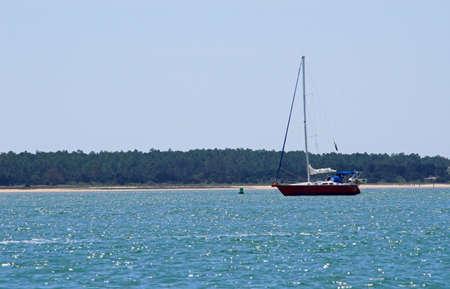 A sailboat securely anchored at the seashore. Stock Photo - 2917803