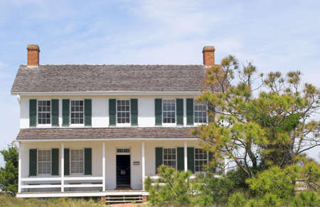 nautical structure: The historic home of a lighthouse keeper.