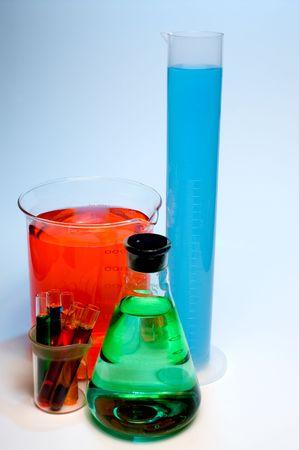 An assortment of tempered precision laboratory glassware. Stock Photo - 3076624