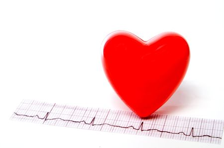 A heart shape and an EKG strip.