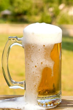 A glass mug of ice cold beer. Stock Photo - 3129464