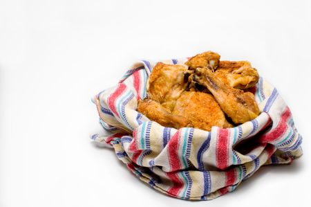 suppertime: A pile of delicious southern fried chicken.