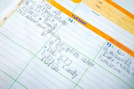 Planificador de Tarea - volver a la escuela concepto  Foto de archivo - 3261020