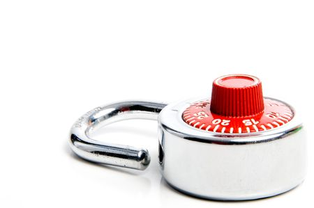 A combination lock ready for a back to school locker. Stock Photo - 3278944