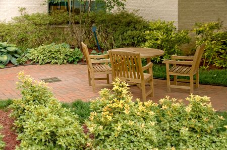 An outdoor patio in a natural setting. Stock Photo - 3351686