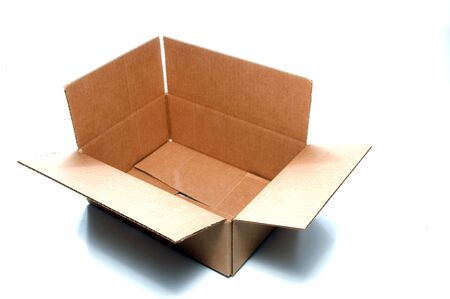 An empty corrugated pasteboard or cardboard box. Stock Photo - 3374085