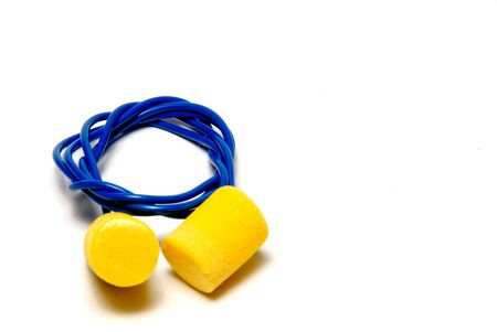 industrial noise: A set of ear plugs - personal protective equipment.