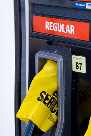 A gas station has run out of gasoline Stock Photo - 3579407