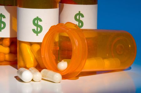 High cost of medication is like pouring money down the drain Stock Photo - 3588682